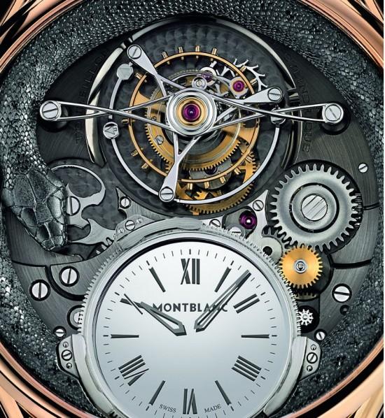 表里有蛇!Montblanc推出110周年纪念版腕表-珠宝首饰展示图【行业经典】