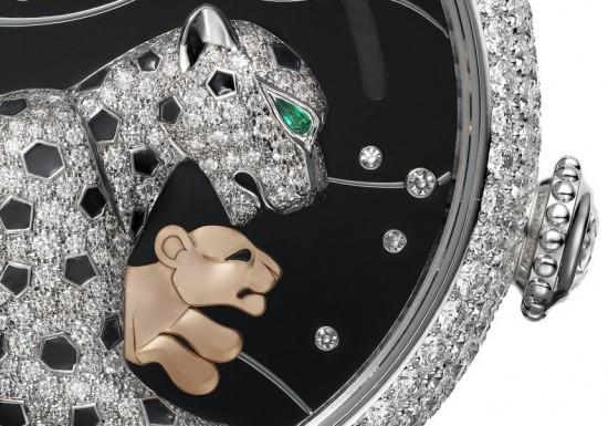 卡地亚2016新作:Panthères et Colibri(猎豹与蜂鸟)腕表-珠宝首饰展示图【行业经典】