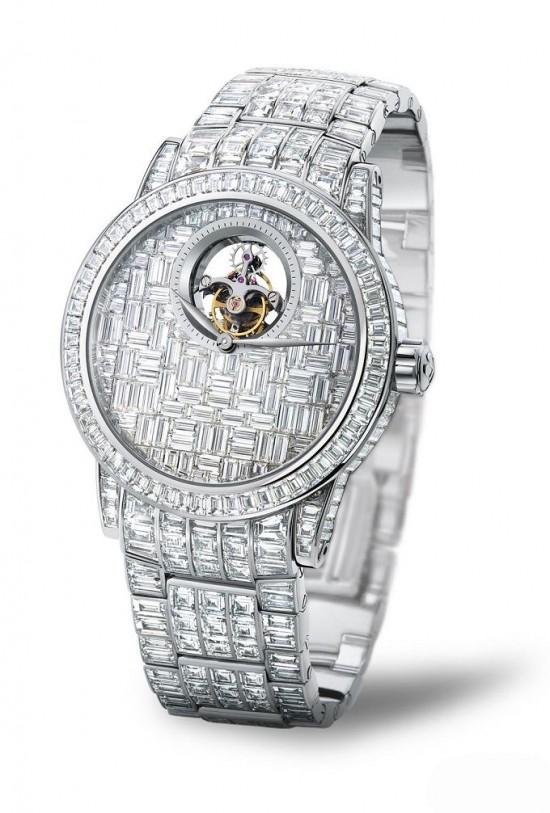 宝珀SPÉCIALITÉS全方钻陀飞轮腕表 尽显高贵优雅-珠宝首饰展示图【行业经典】