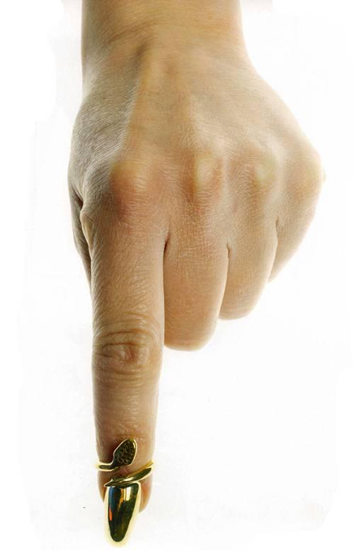指尖上的尖叫 Bijules Serpensive指尖戒-珠宝首饰展示【行业精选】