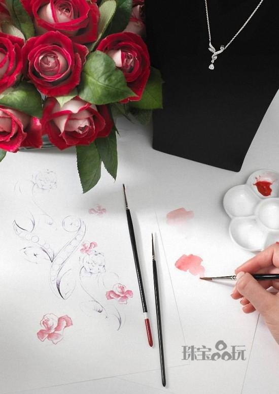 De Beers:爱在玫瑰绽放时