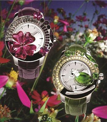 鸟语花香 Galtiscopio全新Giardino系列珠宝腕表-珠宝首饰展示图【行业经典】