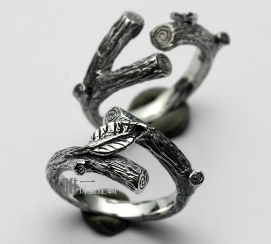 连理枝戒指-创意珠宝