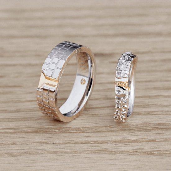 """只为彼此而存在的婚戒""""故事婚戒定制""""-创意珠宝"""