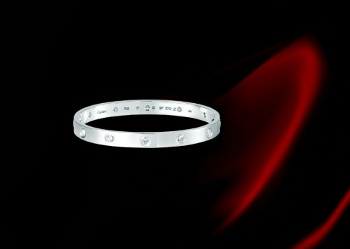 """情人节:卡地亚""""LOVE""""系列手镯-精美珠宝【秘密:适合高贵女人的珠宝】"""