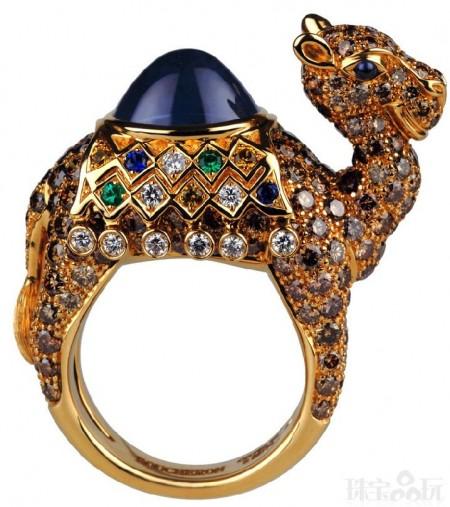 宝诗龙Cabinet of Curiosities彩宝动物戒指-精美珠宝【秘密:适合高贵女人的珠宝】