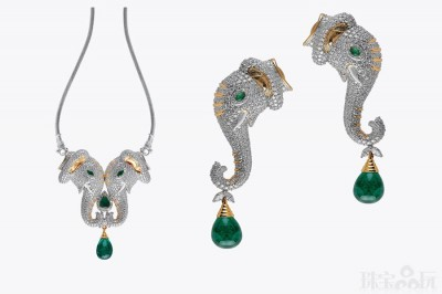 """""""祖母绿大象""""高级珠宝系列-精美珠宝【秘密:适合高贵女人的珠宝】"""
