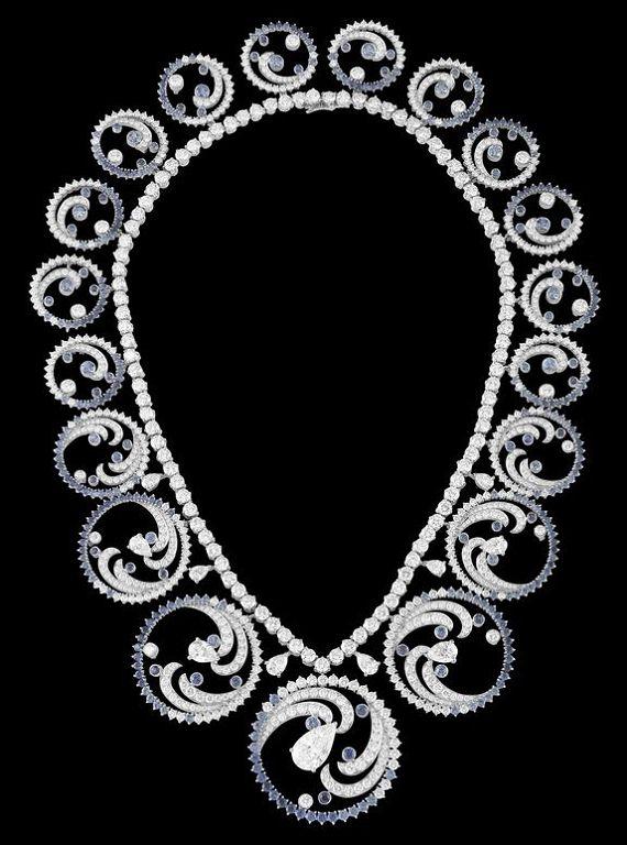 梵克雅宝为摩纳哥王妃定制Ocean皇冠珠宝-精美珠宝【秘密:适合高贵女人的珠宝】