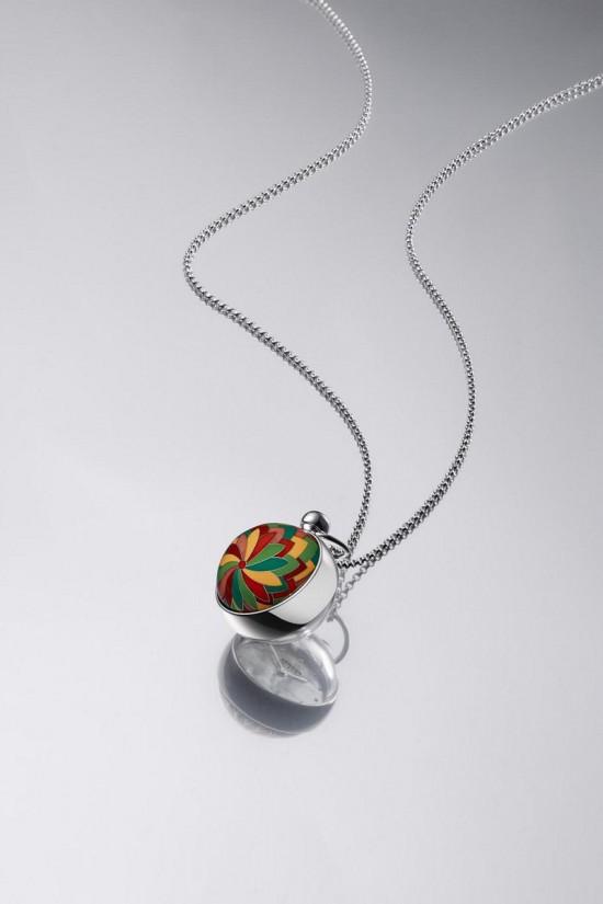 色彩斑斓 爱马仕Pendentif Boule珐琅球形吊坠时计