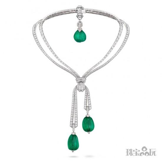 梵克雅宝(Van Cleef & Arpels):礼赞祖母绿-精美珠宝【秘密:适合高贵女人的珠宝】