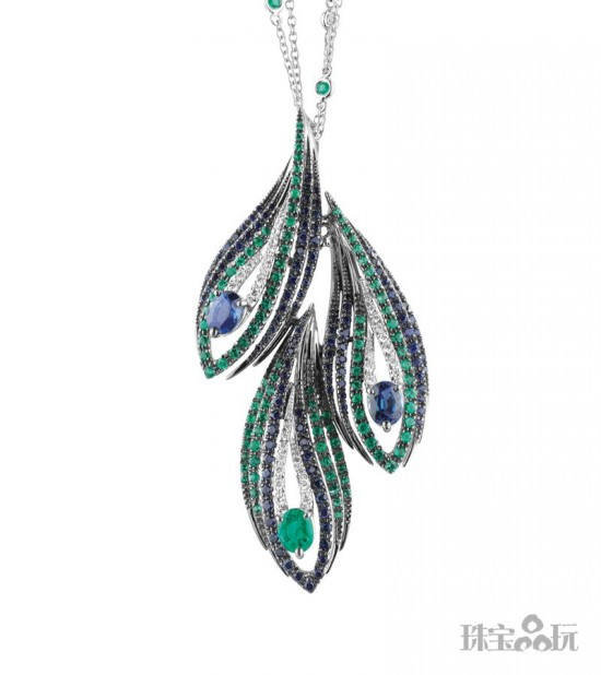 天生丽质 孔雀珠宝演绎冷艳之美-精美珠宝【秘密:适合高贵女人的珠宝】