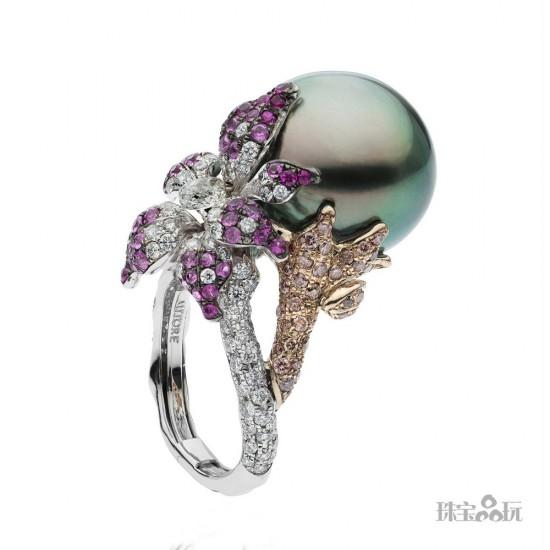 幽兰绽放 Autore Orchids兰花珠宝系列-精美珠宝【秘密:适合高贵女人的珠宝】