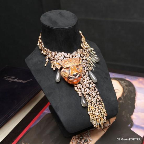 王者风范 Chopard限量版老虎项链