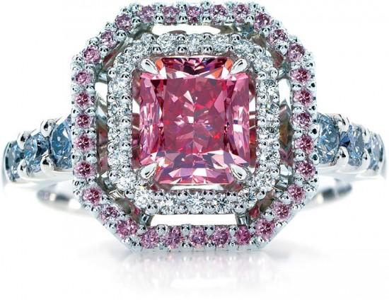 Calleija粉红钻石(Pink Diamond)婚戒-精美珠宝【秘密:适合高贵女人的珠宝】