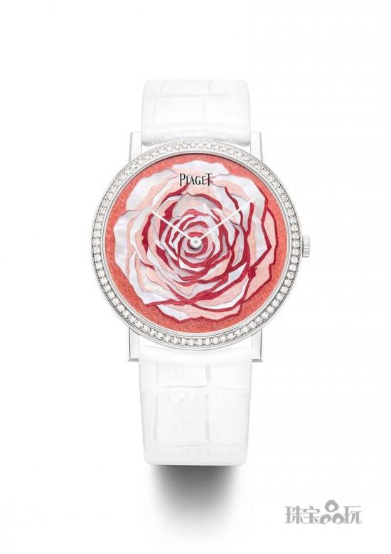 Piaget:表盘里的玫瑰园