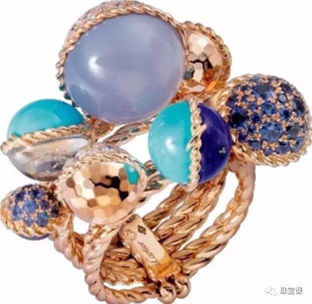 镶嵌紫玉髓的卡地亚戒指