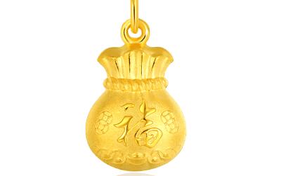 黄金吊坠项链