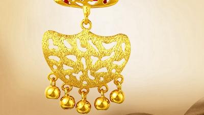 黄金吊坠图片