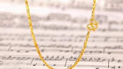 女式黄金项链图片