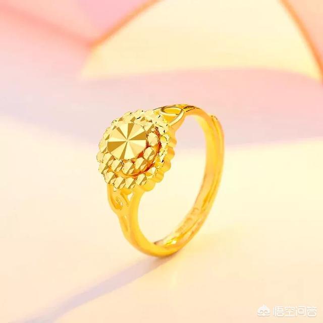 下图为黄金戒指