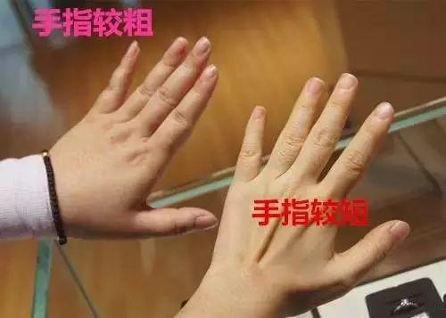 手指粗选钻戒