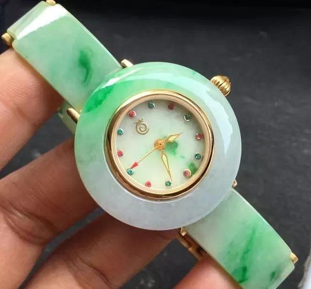 翡翠手表原来这么奢华!【翡翠手表】