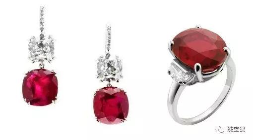 红宝石戒指和耳环