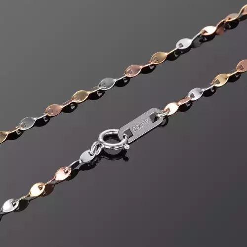 光面扭瓦片链