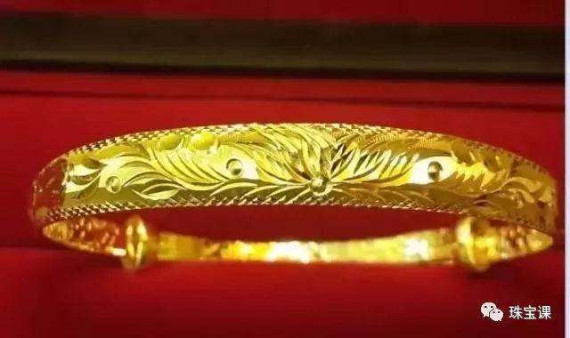 黄金手镯花纹寓意:千线菊手镯