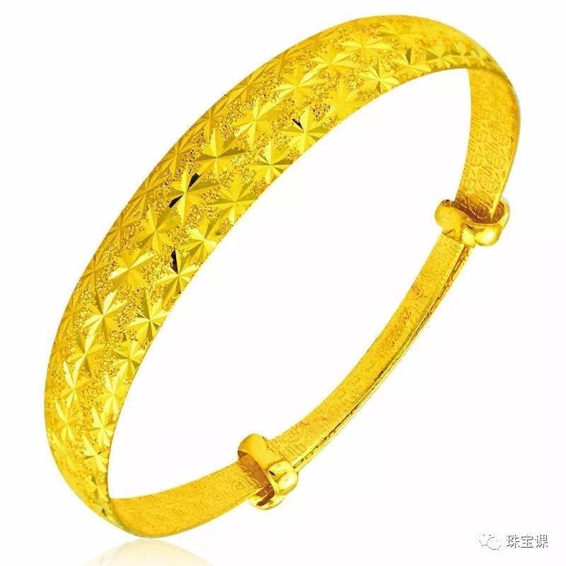 黄金手镯花纹寓意:   满天星