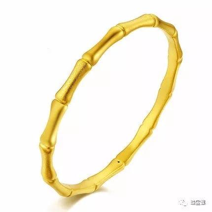 黄金手镯花纹寓意:竹子手镯