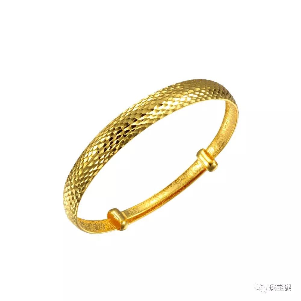 黄金手镯花纹寓意:编织纹手镯