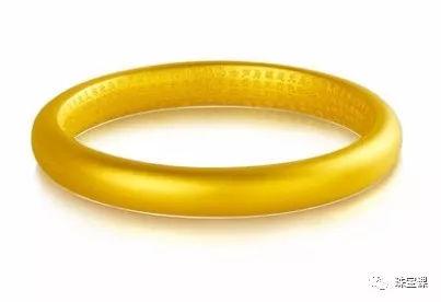 黄金手镯花纹寓意:心经手镯