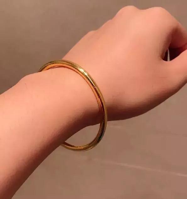 手镯经典款式:金胖:最圆润
