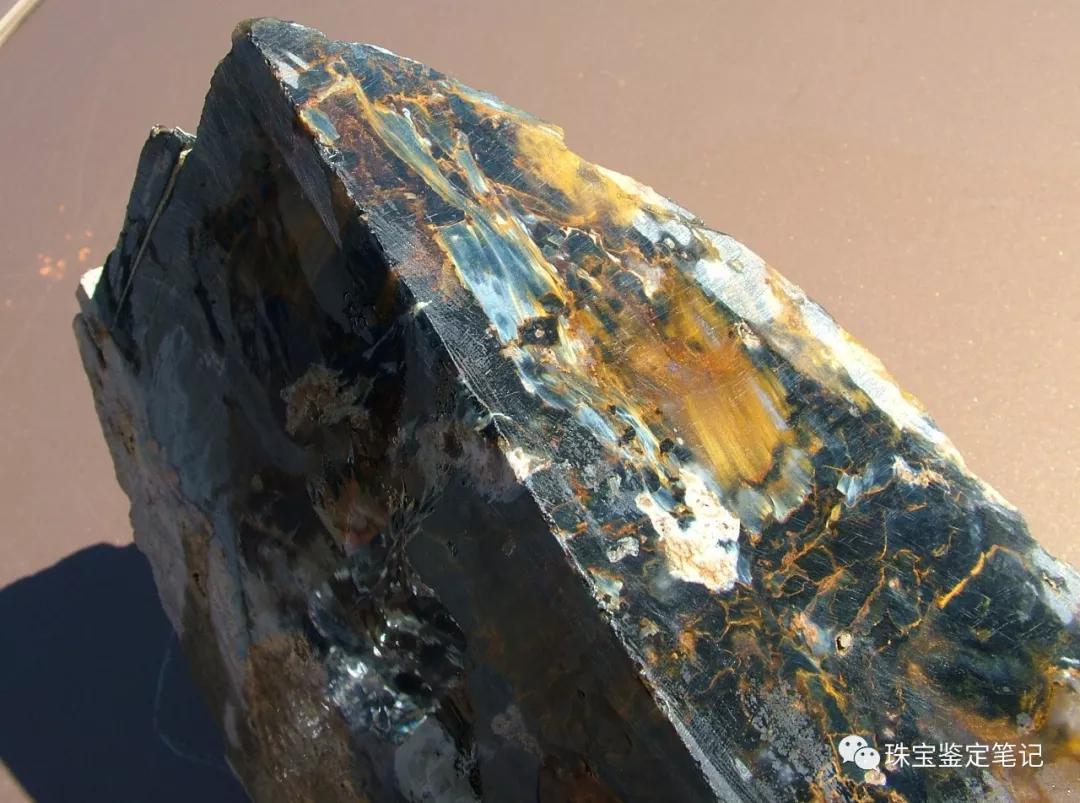纳米比亚出产彼得石pietersite原石