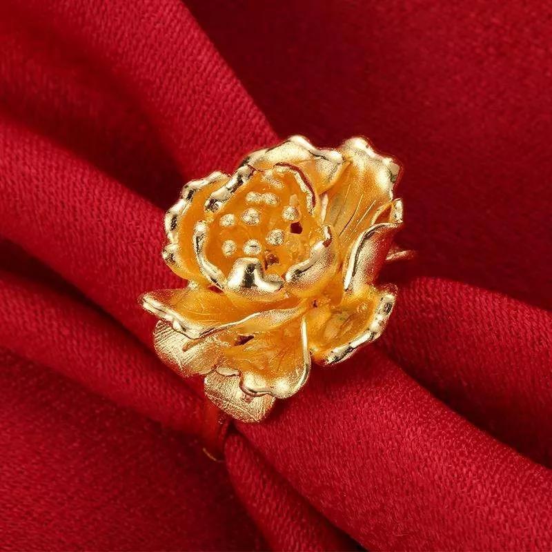 金银等贵金属,最佳造型:牡丹戒指