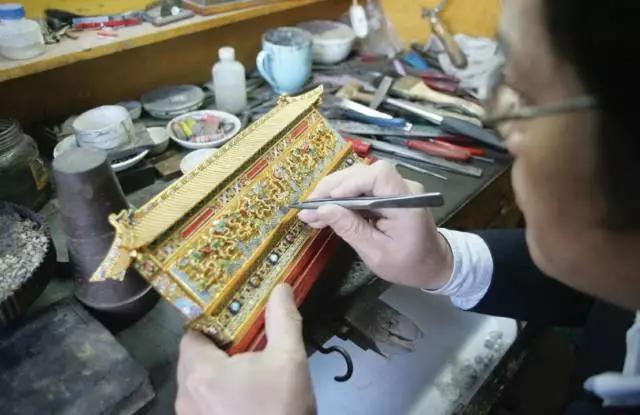 花丝镶嵌图片-花丝镶嵌工艺图片