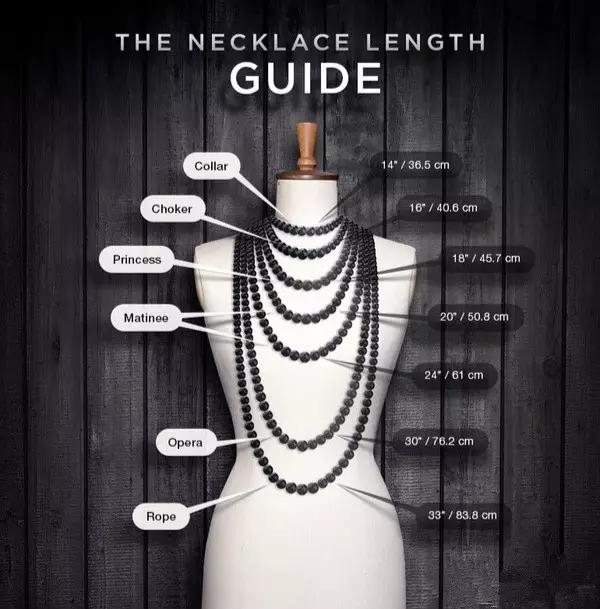 6种不同长度的项链搭配法则-项链搭配技巧