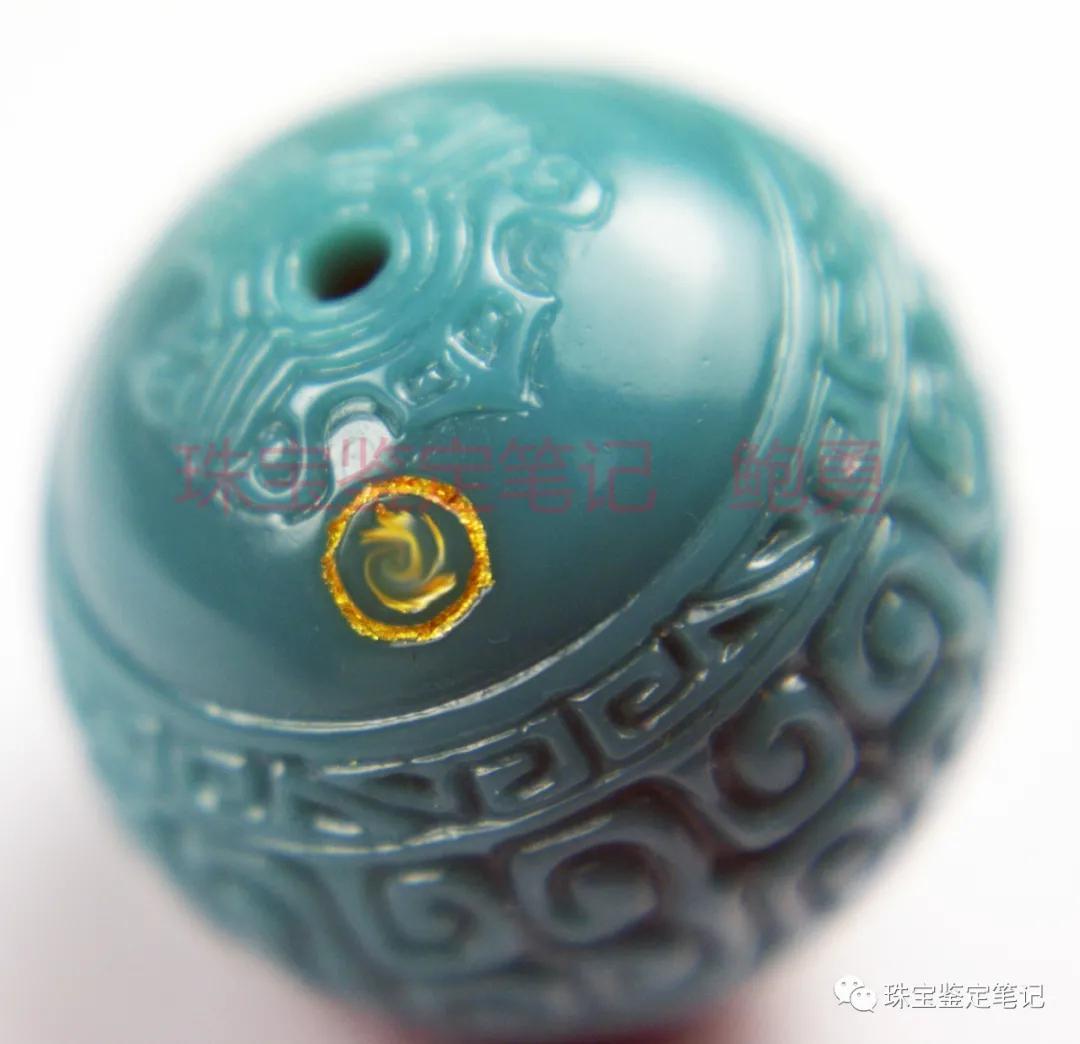 极品高瓷高蓝绿松石,竟然是带大师款的