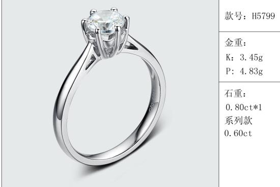 珠宝定制经典款婚钻:有金重与石重经典款婚钻300款